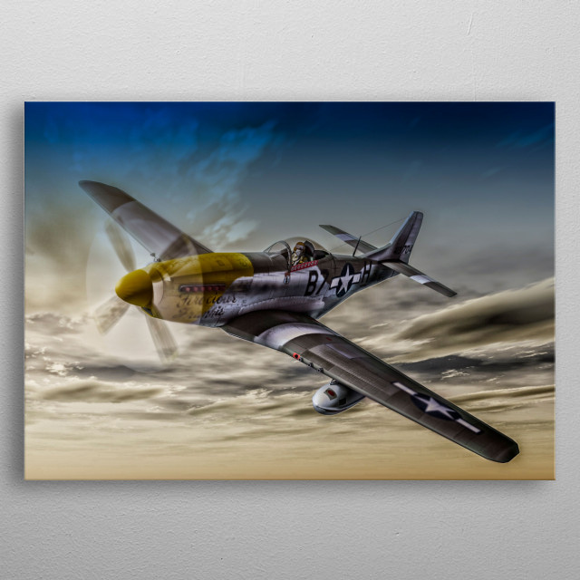 my digital painting of one of my favourite WWII arcraft. The legendary P51 Mustang. metal poster