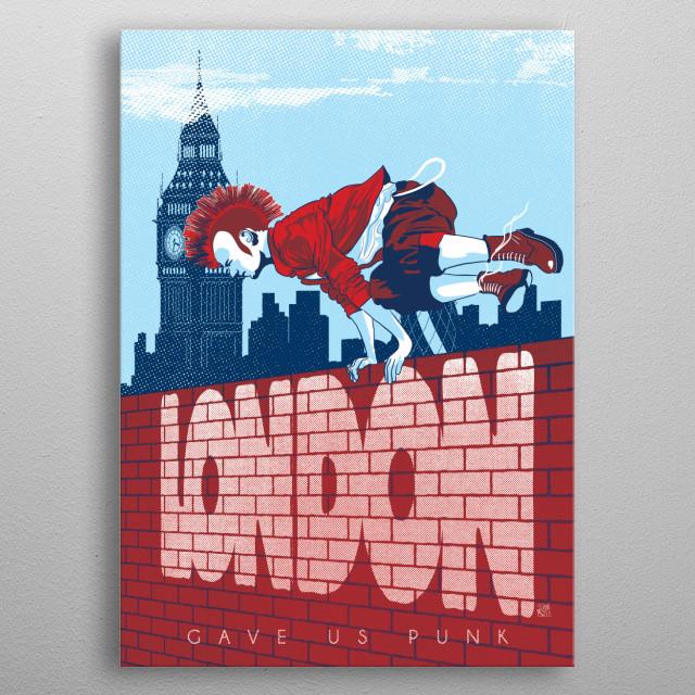 London gave us Punk metal poster