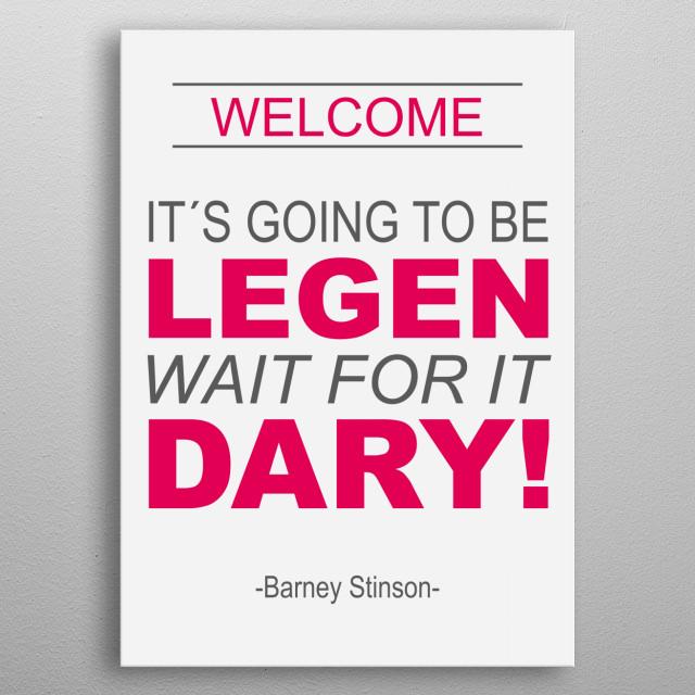 Clasic Barney Stinson!! metal poster