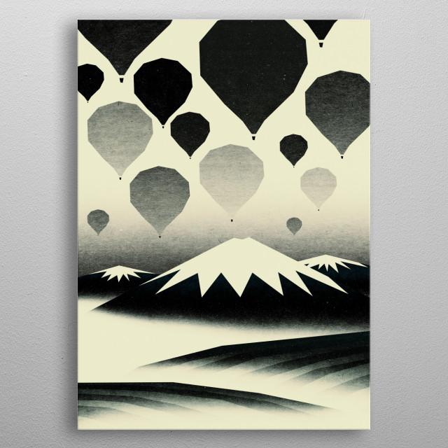 Morning wind balloons metal poster