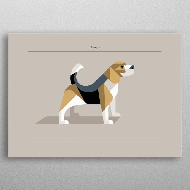 Beagle Dog Minimalist Poster metal poster