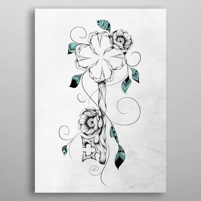 Fascinating  metal poster designed with love by loujah. Decorate your space with this design & find daily inspiration in it. metal poster