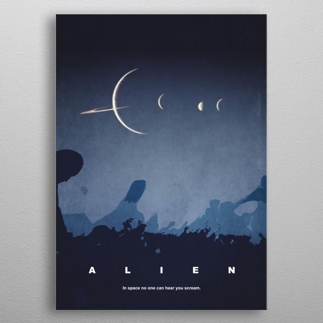 Alternative film poster for the movie Alien metal poster