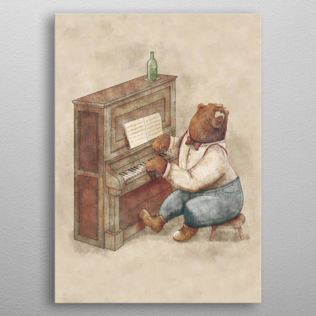 The Pianist metal poster