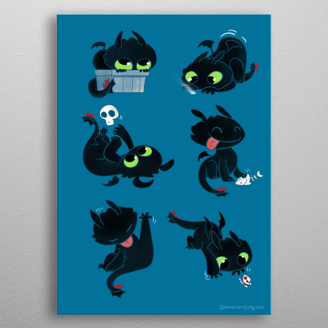 High-quality metal print from amazing Cute Art collection will bring unique style to your space and will show off your personality. metal poster