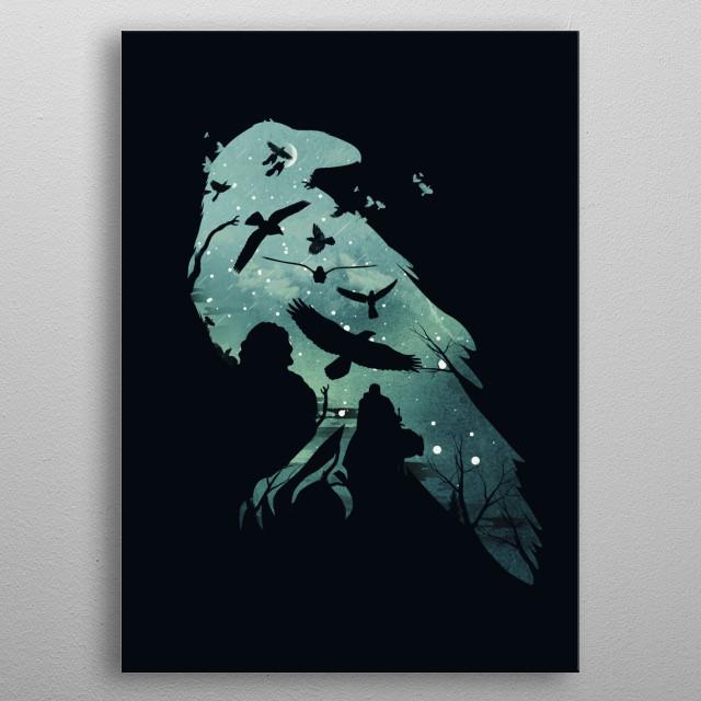 Night's Watch metal poster