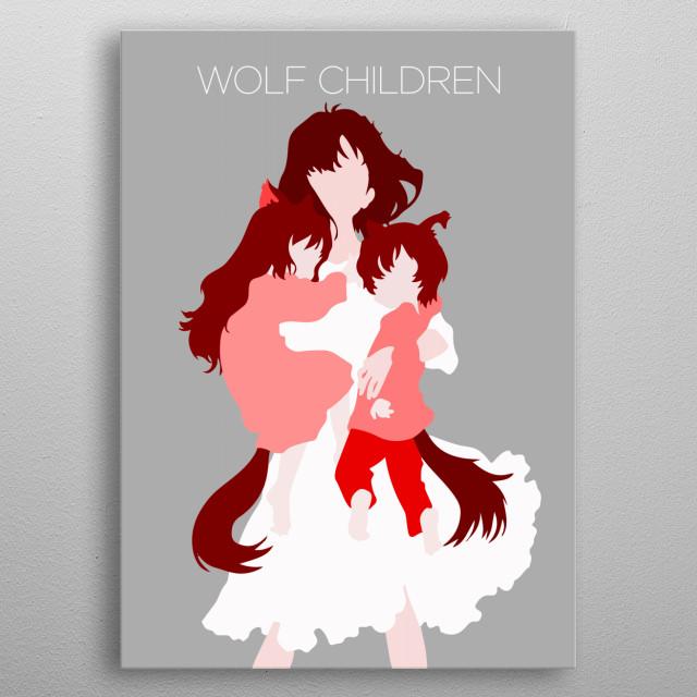 - Wolf Children - metal poster