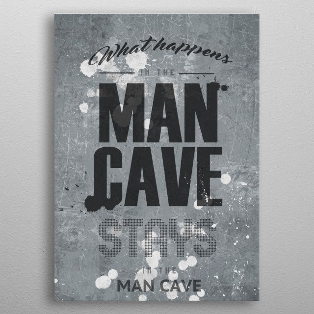 Welcome to the man cave metal poster