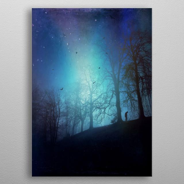 Bluer than Midnight metal poster