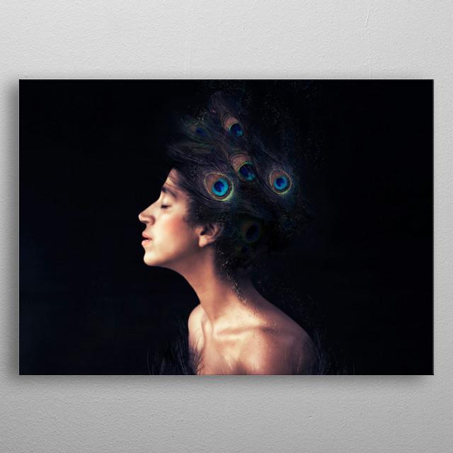Peacock metal poster