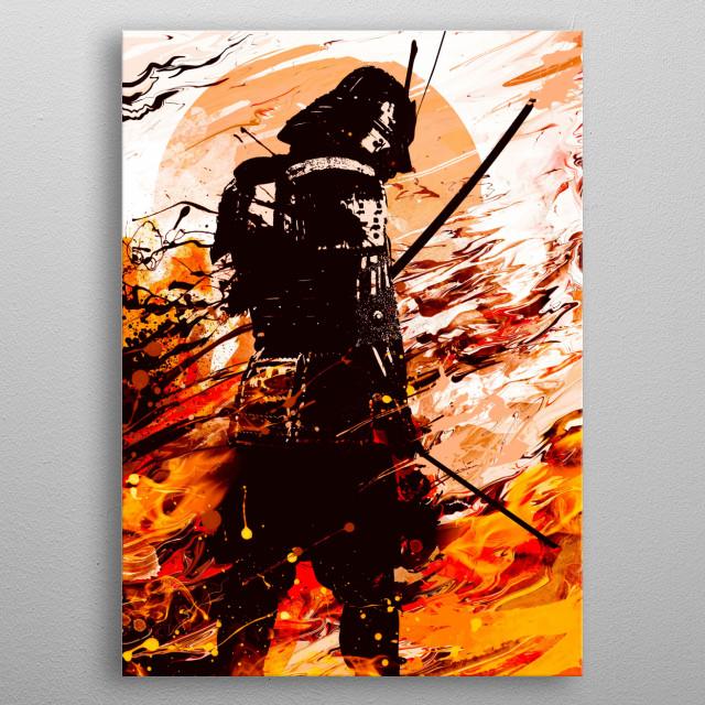 Last Samurai Standing metal poster