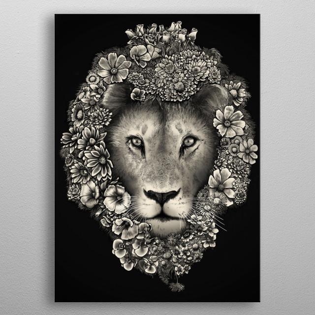 King of Blooms metal poster