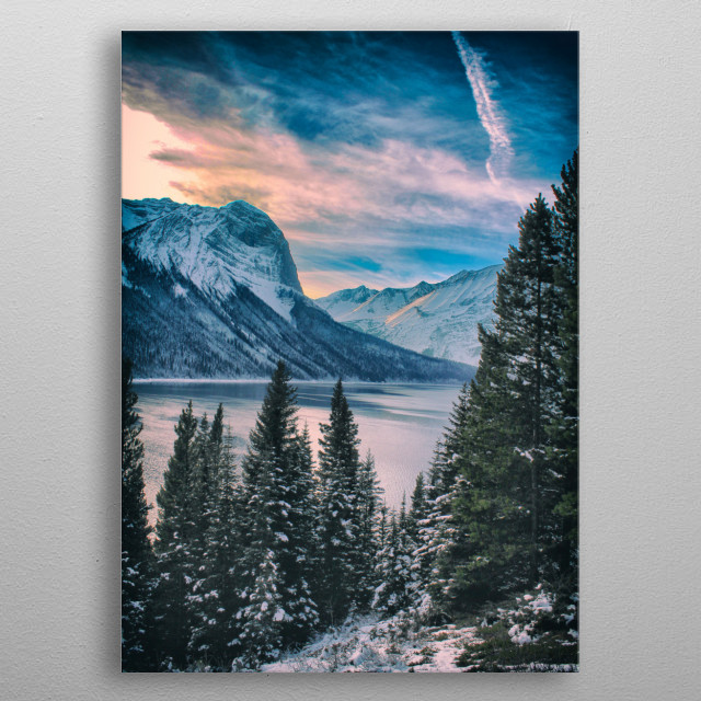 Peter Lougheed Provincial Park in Kananaskis Alberta, Canada. Taken at the Summit of the Canadian Everest  Expedition Trail  metal poster