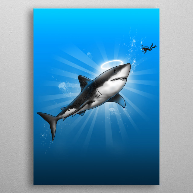 Holy Shark! metal poster