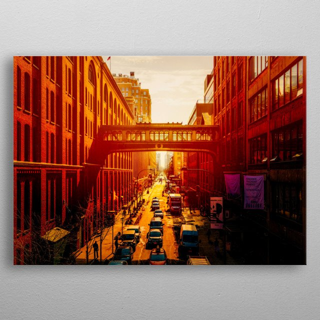 Sunrise on Fifteenth Street - A View From The Highline Park  metal poster