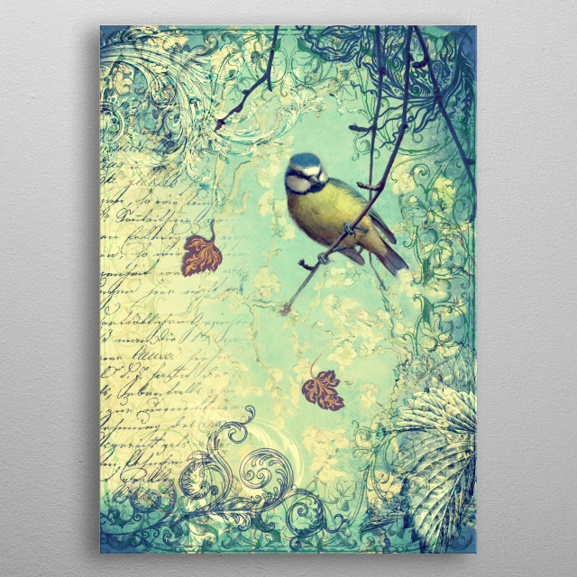 Words Fly in the Wind metal poster