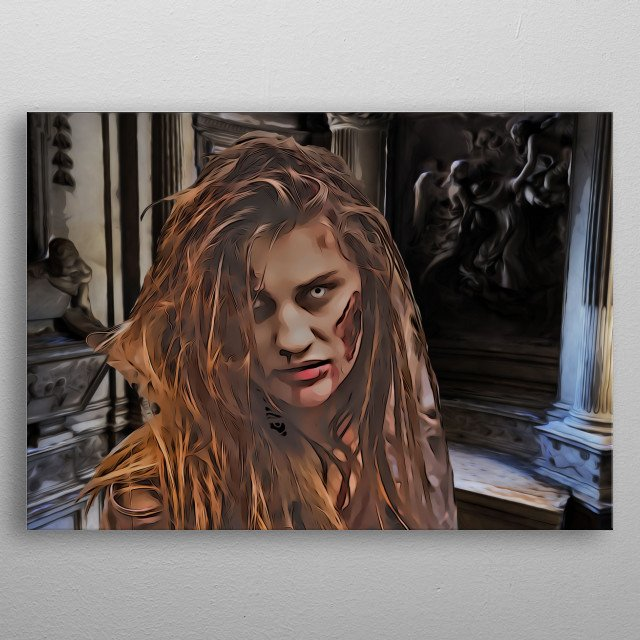 Zombie Girl oil painting / comic style inspirated by resident evil metal poster