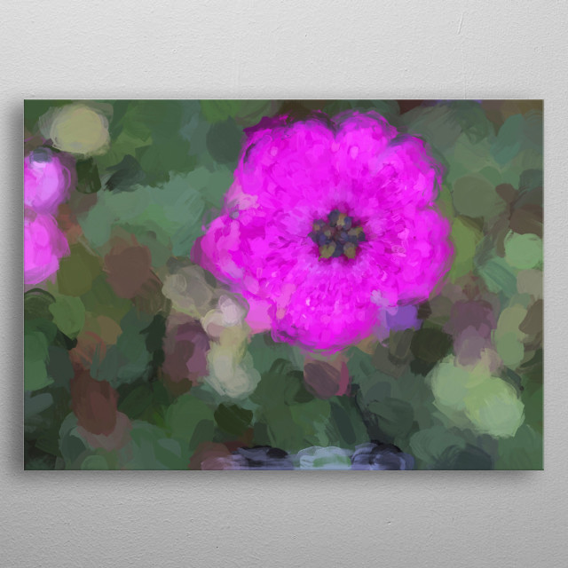 High-quality metal print from amazing Flower In The Garden collection will bring unique style to your space and will show off your personality. metal poster