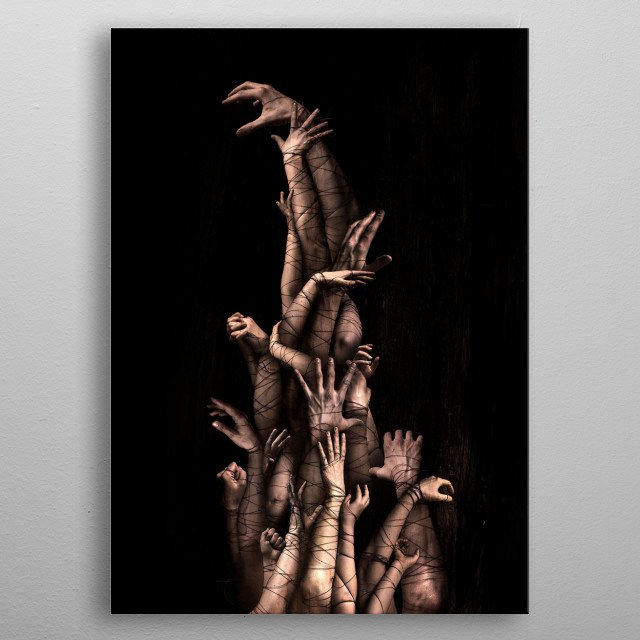 Bound metal poster