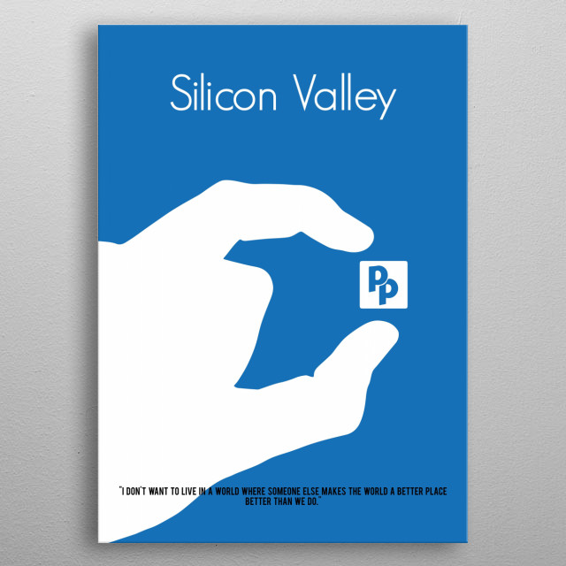 A minimalist poster for the TV show Silicon Valley. metal poster