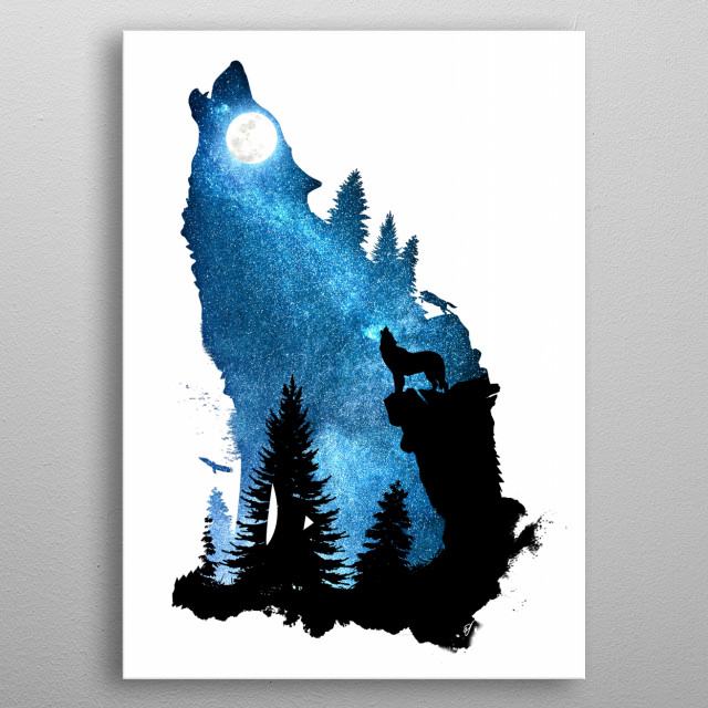 The Howling Wind metal poster