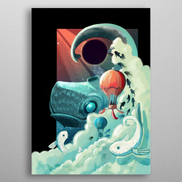 Fascinating metal poster designed by Gema MT. Displate has a unique signature and hologram on the back to add authenticity to each design. metal poster