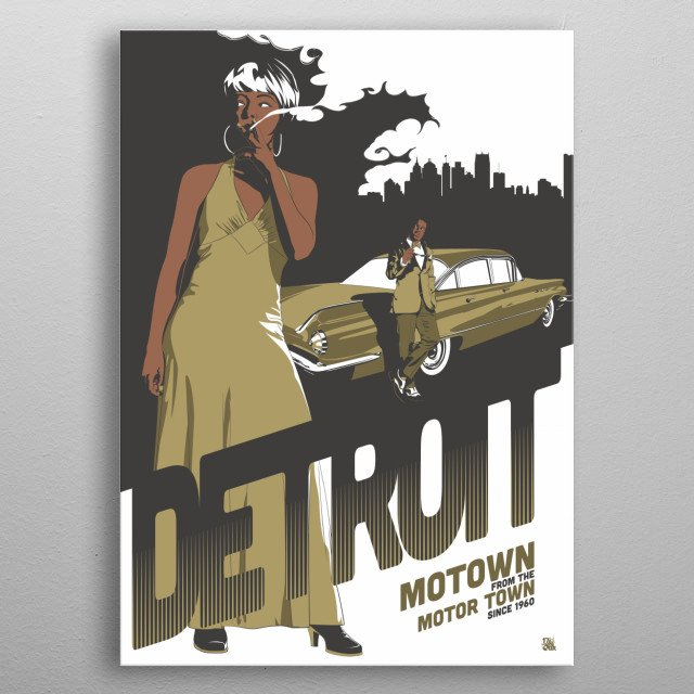 Motown from Detroit metal poster