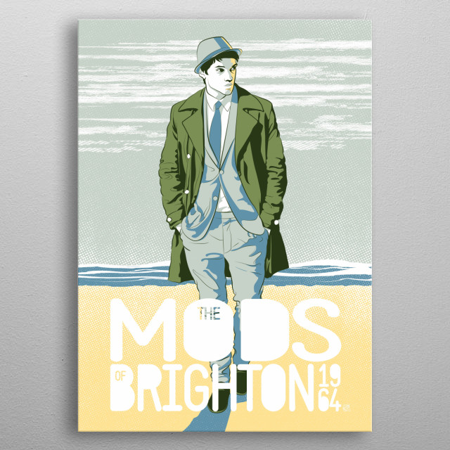 The Mods of Brighton metal poster