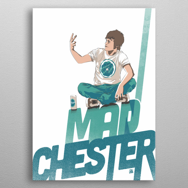 Madchester from Manchester metal poster