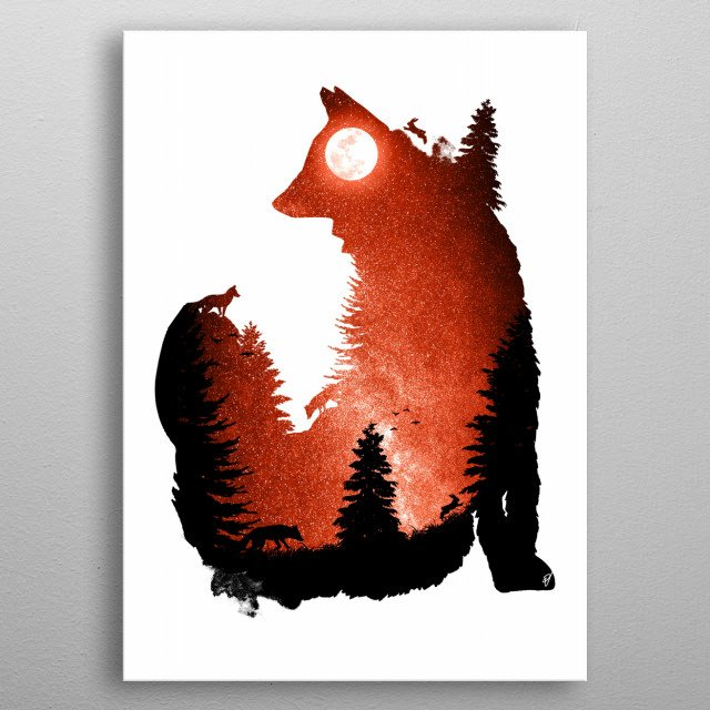 High-quality metal print from amazing Animalia collection will bring unique style to your space and will show off your personality. metal poster