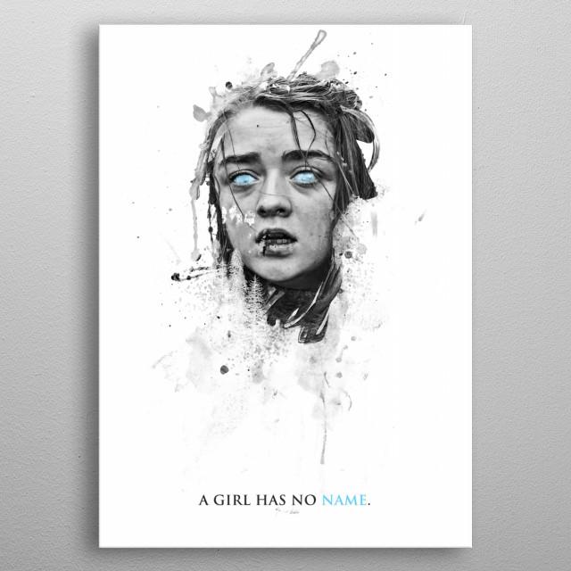 A girl has no name. metal poster