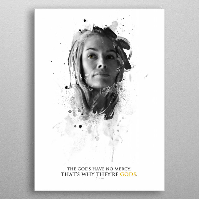 The gods have no mercy, that's why they're gods. metal poster