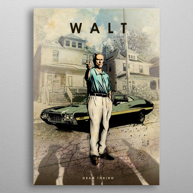 Walt metal poster