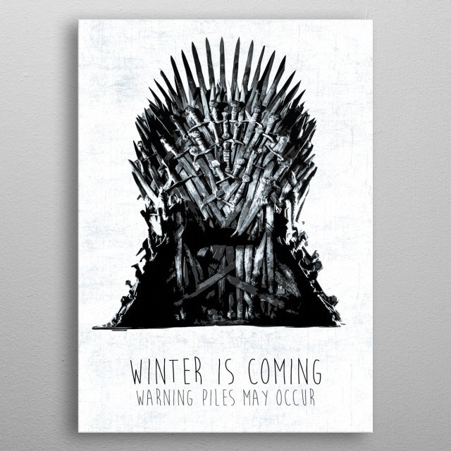 winter is coming metal poster