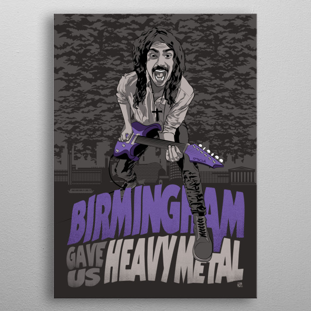 Birmingham Gave us Heavy Metal metal poster