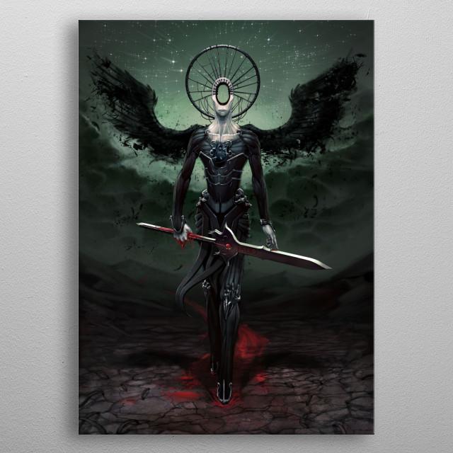 Simikiel - Angel of Vengeance metal poster