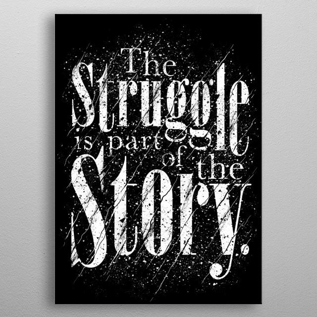 The Struggle metal poster