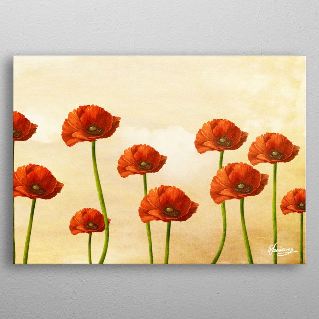 Where the Poppies Bloom metal poster