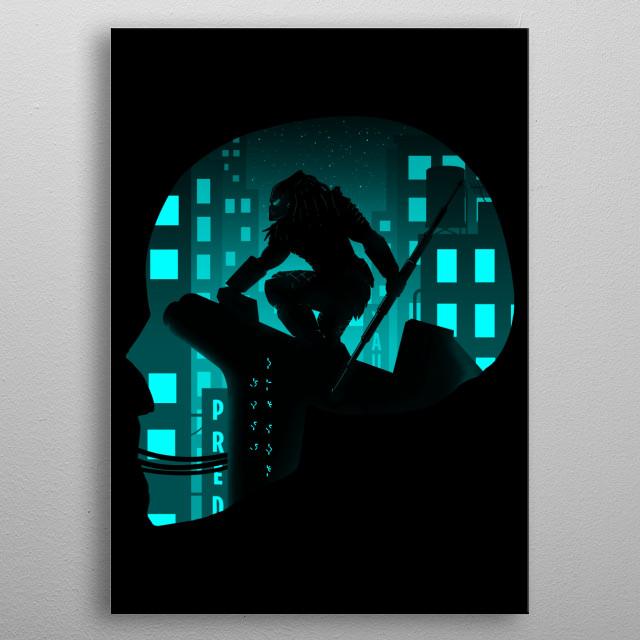 City Hunter metal poster