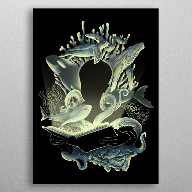 Underwater Stories metal poster