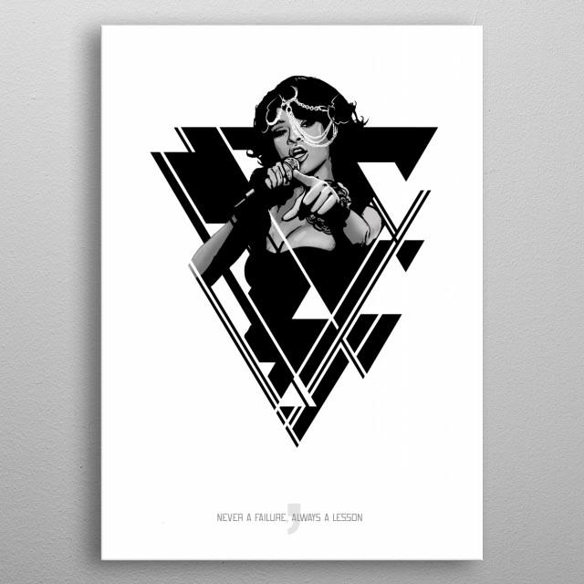 RiRi metal poster