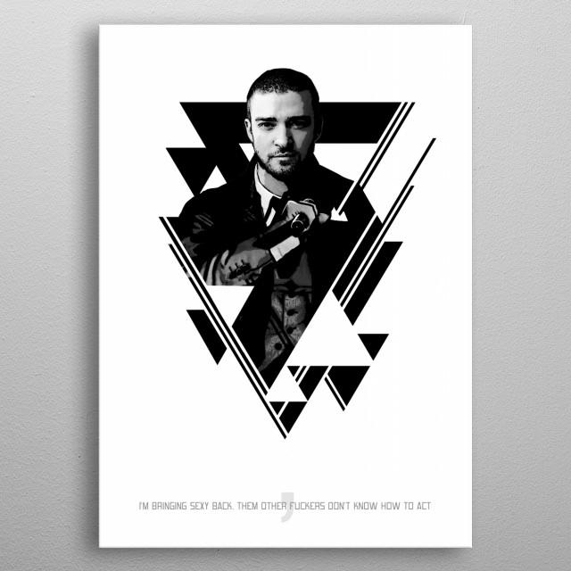 Justin metal poster