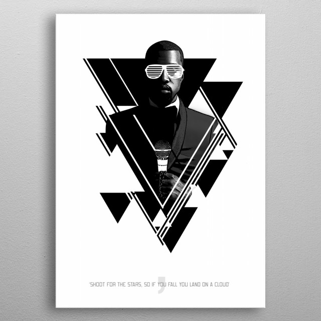 Mr West metal poster