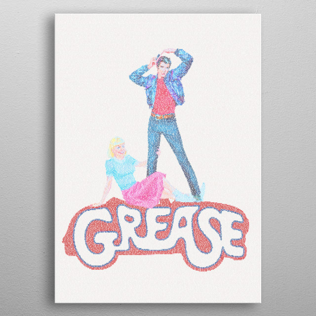 Grease  A typographic poster f    by Robotic Ewe | metal