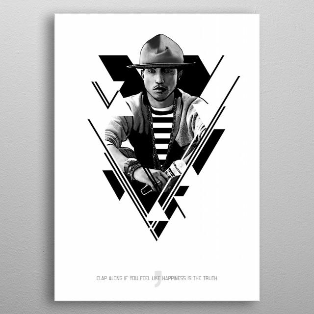 Pharell metal poster