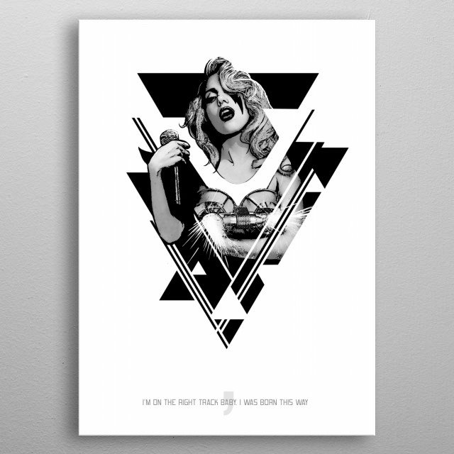 High-quality metal print from amazing Pop Stars collection will bring unique style to your space and will show off your personality. metal poster