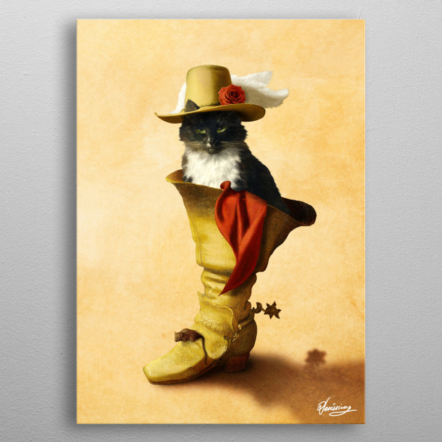 Little Puss in Boots metal poster