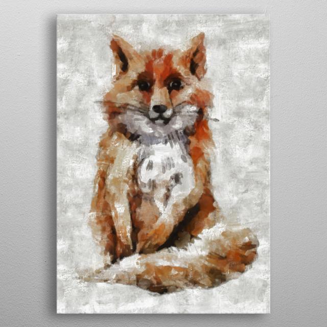 Foxy Fox metal poster
