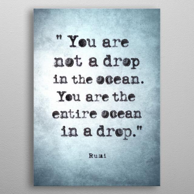Rumi metal poster