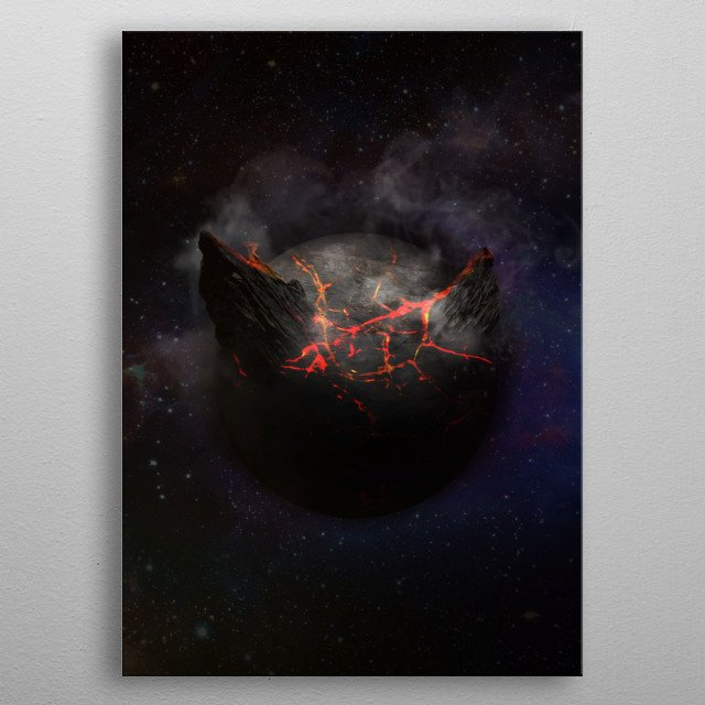 This marvelous metal poster designed by dehja to add authenticity to your place. Display your passion to the whole world. metal poster